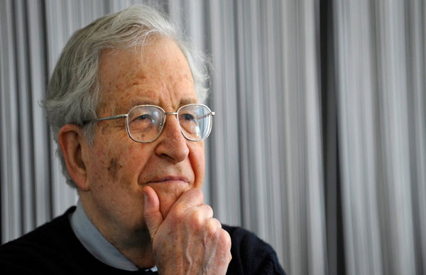 Chomsky to RT US and its NATO intervention force may spark nuclear war