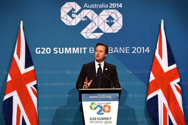David Cameron warns of looming second global crash