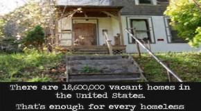 18,600,000 Vacant Homes in The United States. Enough For Every Homeless Person to Have Six