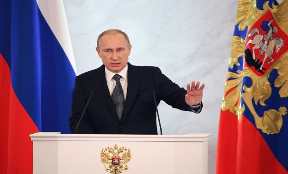 Vladimir Putin addresses parliament; accuses West of seeking to 'destroy' Russia