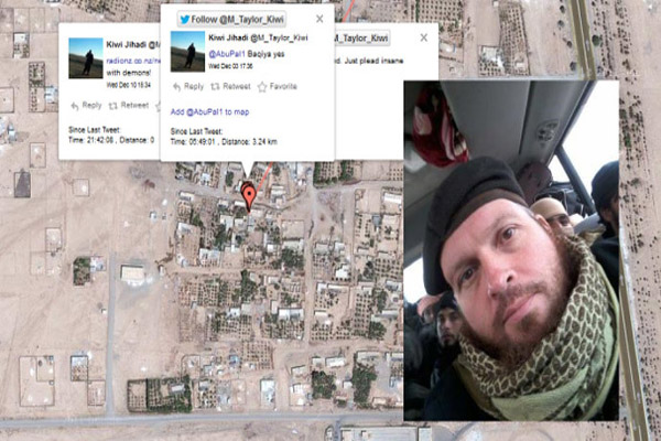 Geo-jihad New Zealand militant accidentally tweets his Syria location