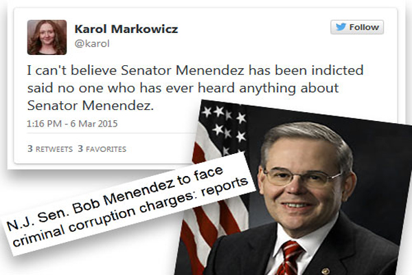 DOJ Is Charging Senator Menendez with Corruption aka What Happens When You Piss off Obama
