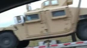 Military Vehicles Staging Behind Midland Texas Wal-Mart As Choppers Fill Skies And 'Blacked-Out' FEMA Buildings Are Built In Kentucky