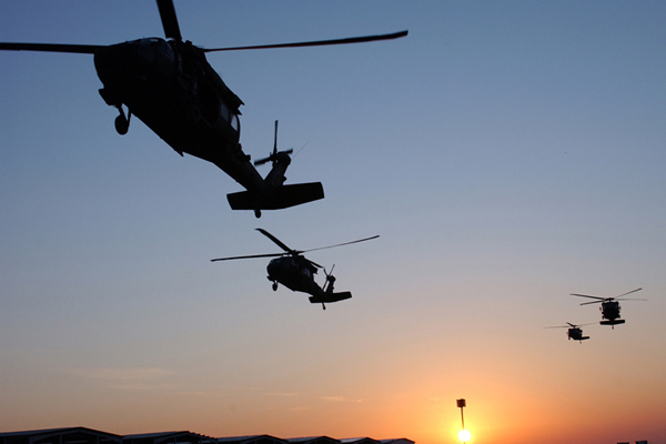 Helicopters Arriving Before Jade Helm