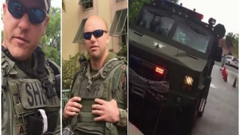 Teen Interviews Navy Vet Who Was Pulled Over By SWAT Tank