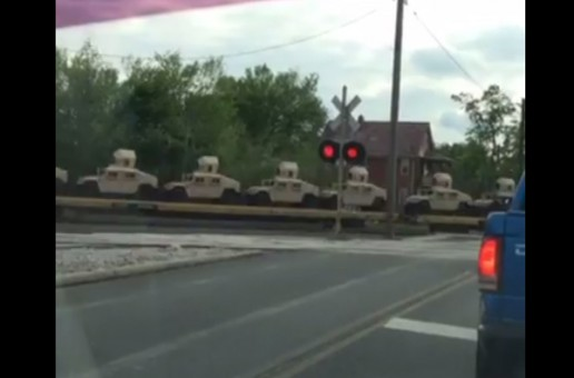 Alert: Hundreds of military Humvees spotted heading towards Cleveland, Ohio