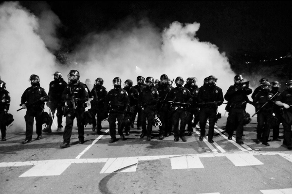 The prospects for urban riots are hyped as a breach of domestic security