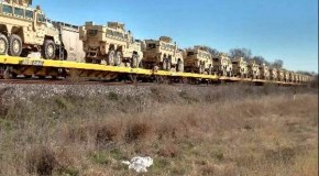 Military vehicles are being shipped to a closed Texas Walmart ahead of Jade Helm? (Photos)