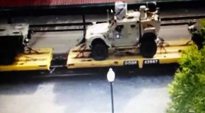 "Trainload of up-armored Humvees with special COMM equipment linked to ""Homeland Defense operations"""