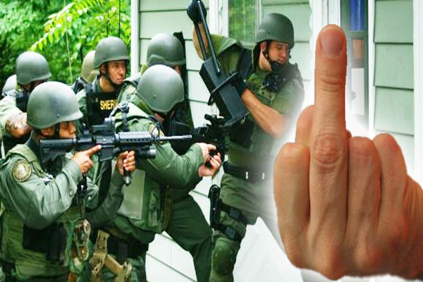 Woman Flipped Off the Mayor, So He Had a SWAT Team Raid Her House