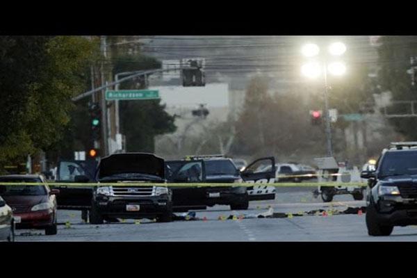 SHOCK VIDEO SAN BERNARDINO TERRORIST GUN BATTLE WITH COPS